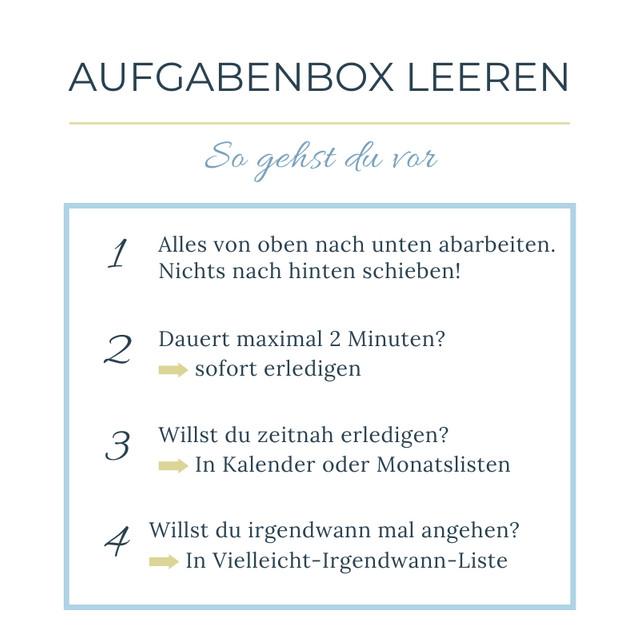 Selbstmanagement-Tipp: Aufgabenbox anlegen