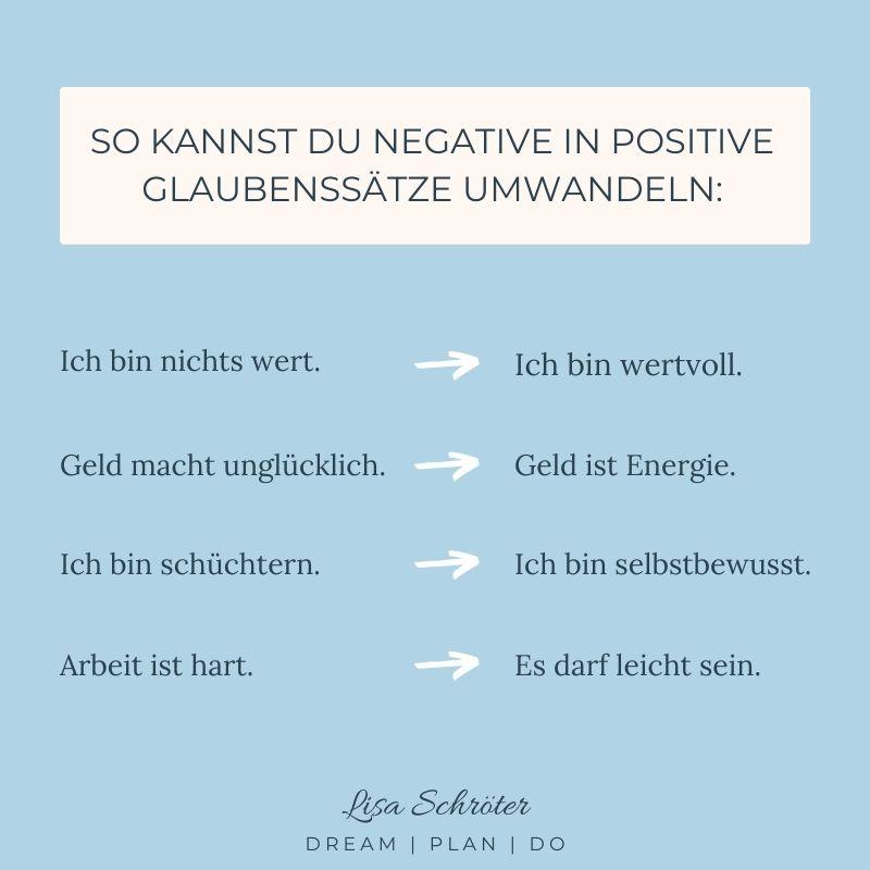 So kannst du deine negativen Glaubenssätze umwandeln.